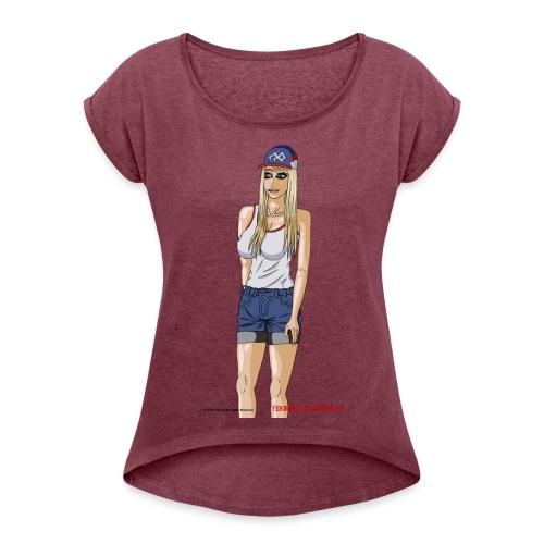Gina Character Design - Women's Roll Cuff T-Shirt