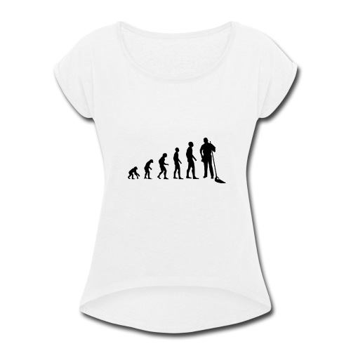 Evolution cleaning - Women's Roll Cuff T-Shirt