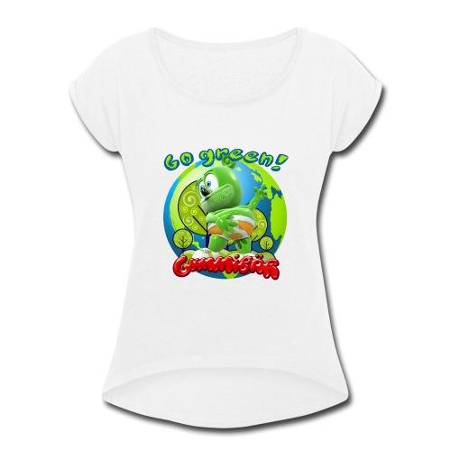 Gummibär Go Green Earth Day Earth - Women's Roll Cuff T-Shirt