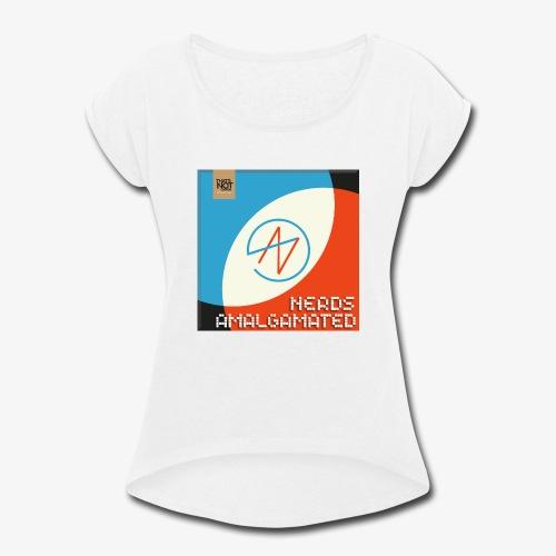Top Shelf Nerds Cover - Women's Roll Cuff T-Shirt