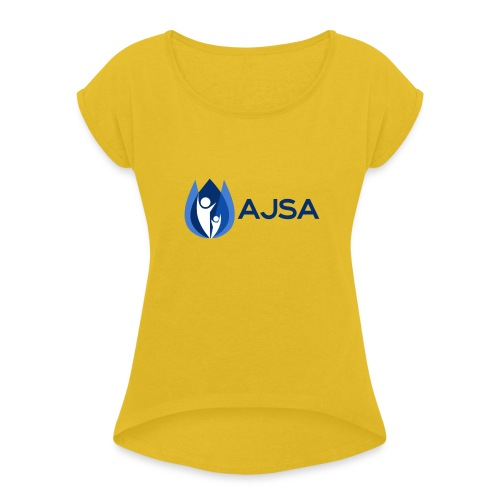 AJSA Bleu - Women's Roll Cuff T-Shirt