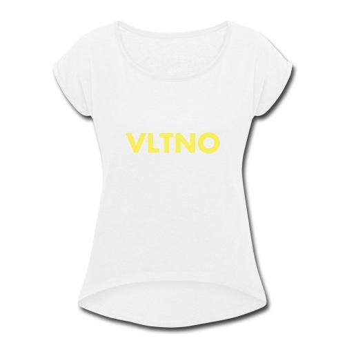 VLTNO LOGO - Women's Roll Cuff T-Shirt