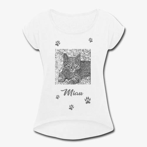 Miau - Women's Roll Cuff T-Shirt