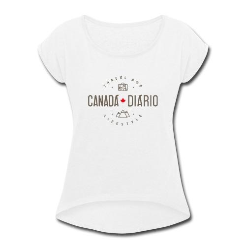 Canada Diario LOGO PADRAO - Women's Roll Cuff T-Shirt