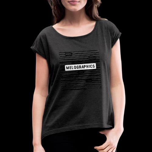 MELOGRAPHICS | Blackout Poem - Women's Roll Cuff T-Shirt