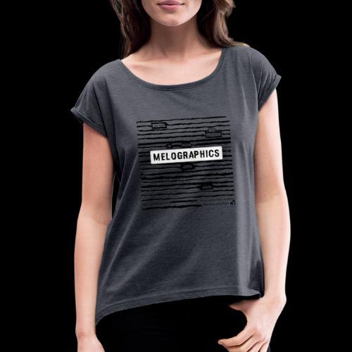 MELOGRAPHICS   Blackout Poem - Women's Roll Cuff T-Shirt