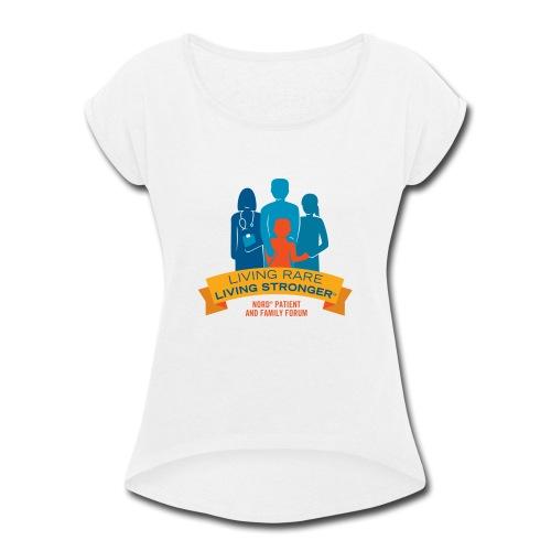 LRLS Logo - Women's Roll Cuff T-Shirt