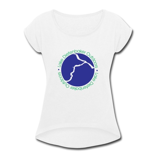 LDO WHITE LOGO - Women's Roll Cuff T-Shirt