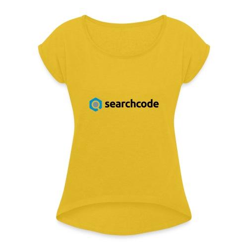 searchcode logo - Women's Roll Cuff T-Shirt