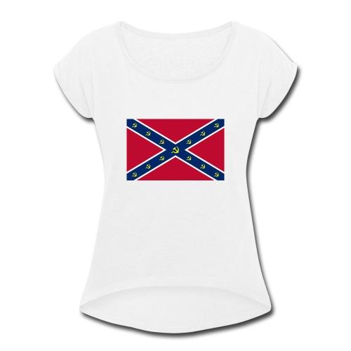 Confederate Communism - Women's Roll Cuff T-Shirt