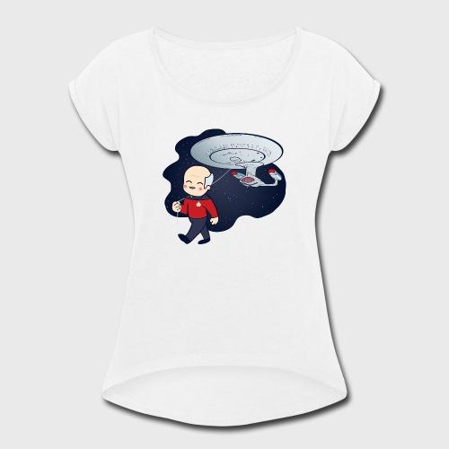 Picard Balloon - Women's Roll Cuff T-Shirt