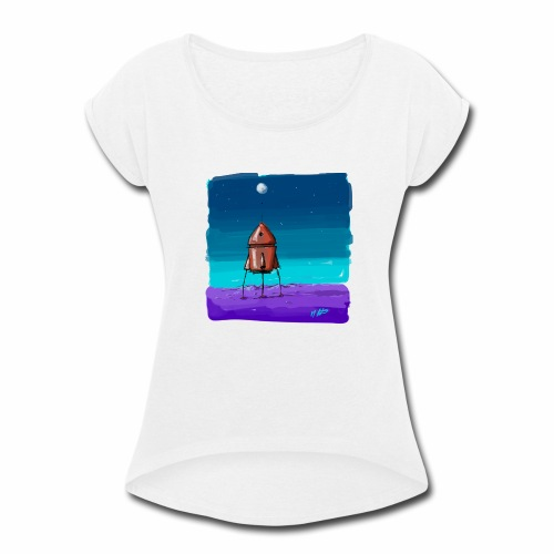 It Came Alone - Women's Roll Cuff T-Shirt