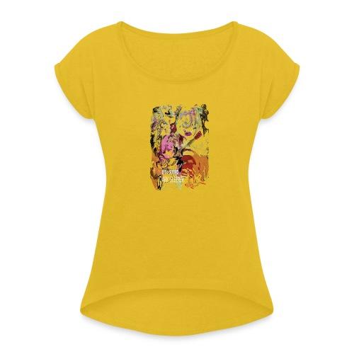 US PSYCH long - Women's Roll Cuff T-Shirt