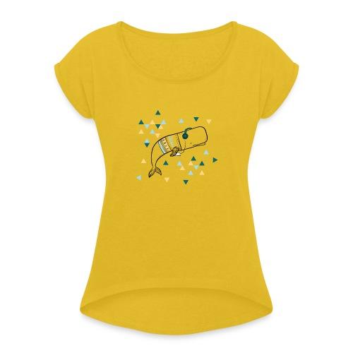 Music Whale - Women's Roll Cuff T-Shirt