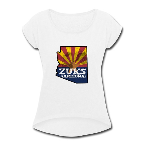Zuks of Arizona Official Logo - Women's Roll Cuff T-Shirt