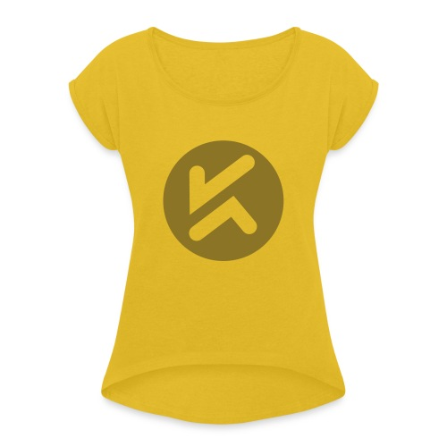 KCJ Media Tee - Women's Roll Cuff T-Shirt