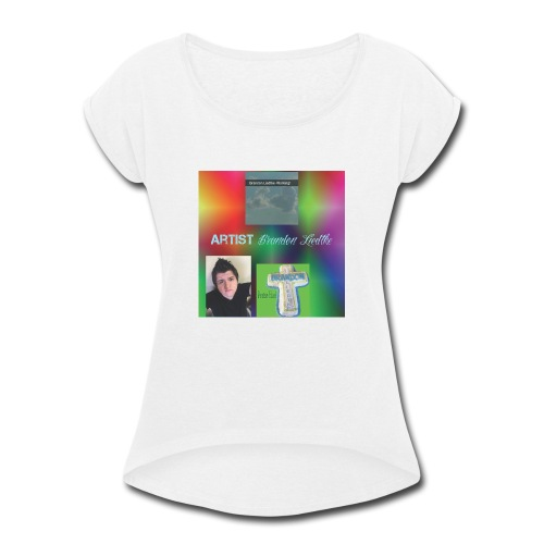 Brandons Music 1 - Women's Roll Cuff T-Shirt