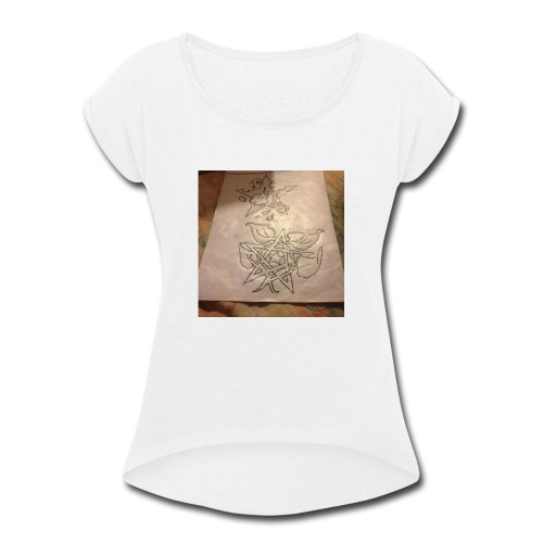 My own designs - Women's Roll Cuff T-Shirt