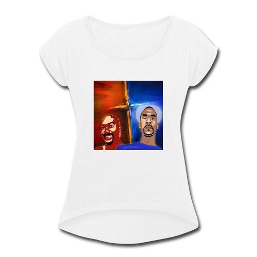 pretty tony galaxy 7 edge case - Women's Roll Cuff T-Shirt