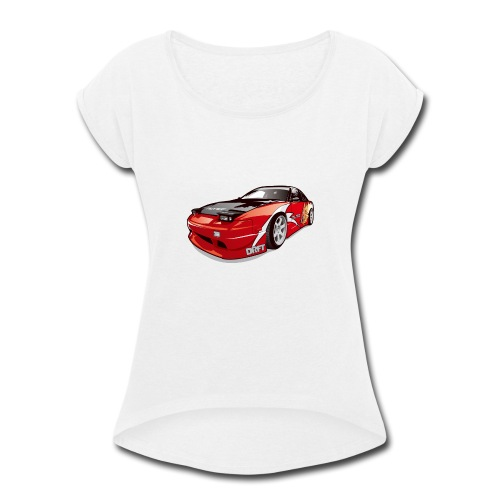 cars drift - Women's Roll Cuff T-Shirt
