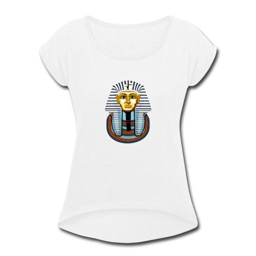 tutankhamun - Women's Roll Cuff T-Shirt