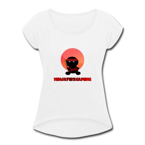 NFG Shirt Logo 2 - Women's Roll Cuff T-Shirt