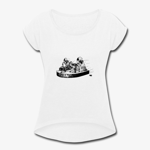 TINY WHOOV - DRAWING - Women's Roll Cuff T-Shirt