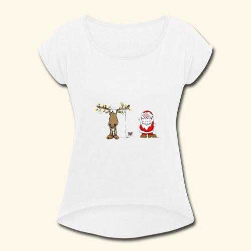 Xmas - Women's Roll Cuff T-Shirt