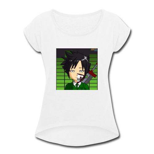 A-symetric Buster - Women's Roll Cuff T-Shirt