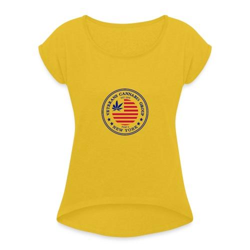 VCG Logo Post 2 NY - Women's Roll Cuff T-Shirt