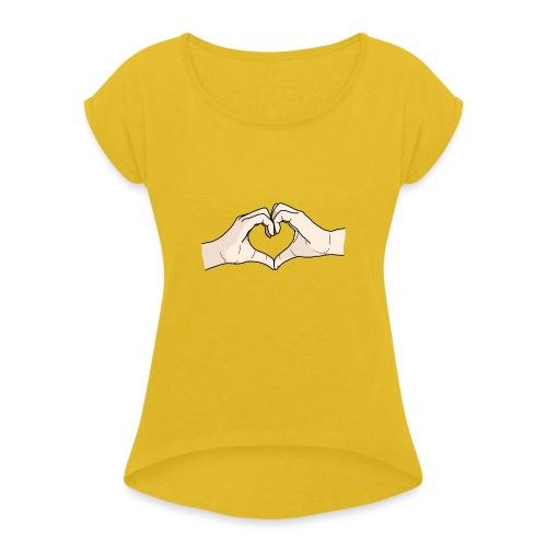Heart Hands - Women's Roll Cuff T-Shirt