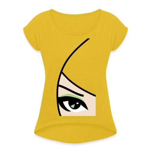 Banzai Chicks Single Eye Women's T-shirt - Women's Roll Cuff T-Shirt