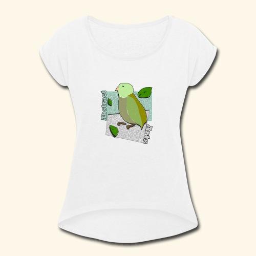 Little Bird Abstract Arts by Cc Arts Designs - Women's Roll Cuff T-Shirt