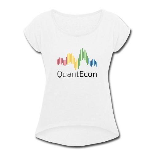 QuantEcon Official Logo - Women's Roll Cuff T-Shirt