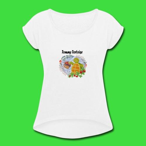 Tommy Tortoise white - Women's Roll Cuff T-Shirt