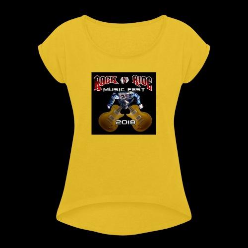 RocknRide Design - Women's Roll Cuff T-Shirt