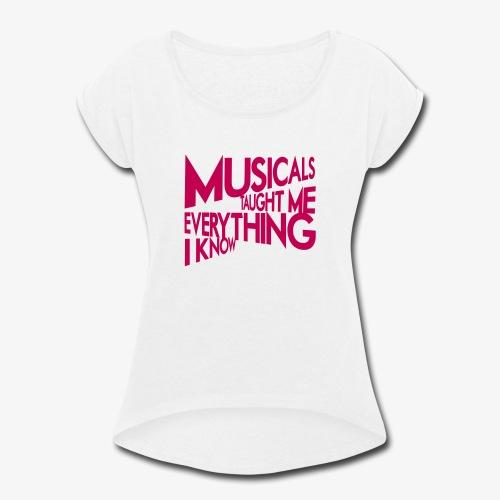 MTMEIK Pink Logo - Women's Roll Cuff T-Shirt