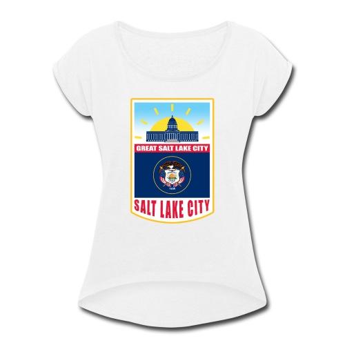 Utah - Salt Lake City - Women's Roll Cuff T-Shirt
