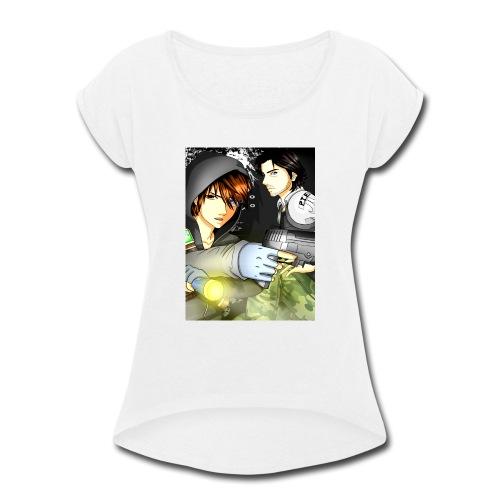 P I E Poster - Women's Roll Cuff T-Shirt