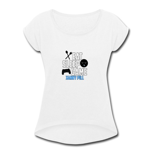 EAT SLEEP GAME - Women's Roll Cuff T-Shirt
