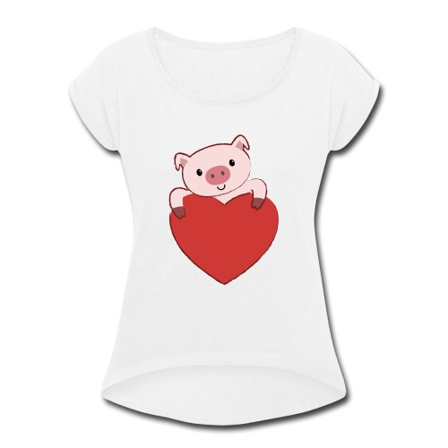 Year of the Pig - Women's Roll Cuff T-Shirt