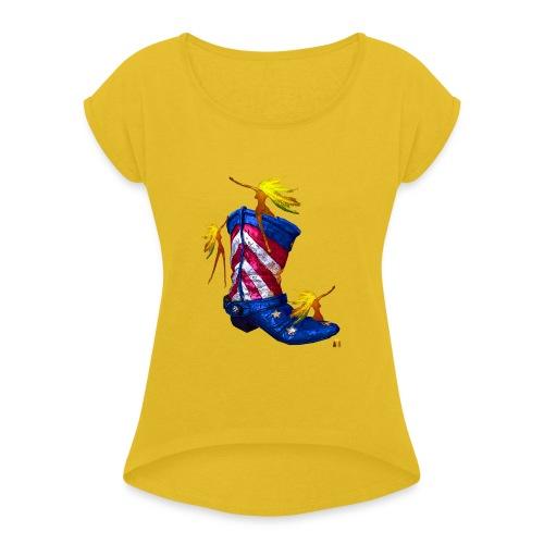 Boot Hoot - Women's Roll Cuff T-Shirt