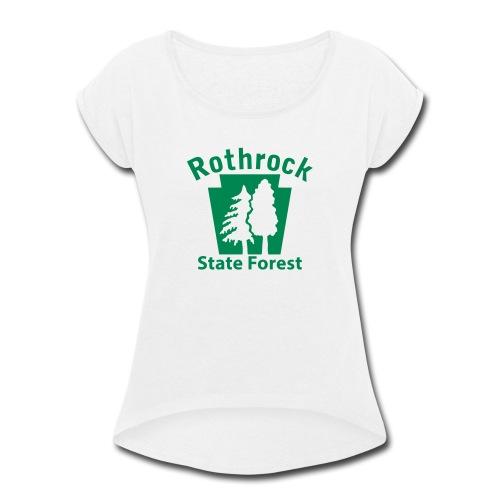 Rothrock State Forest Keystone (w/trees) - Women's Roll Cuff T-Shirt