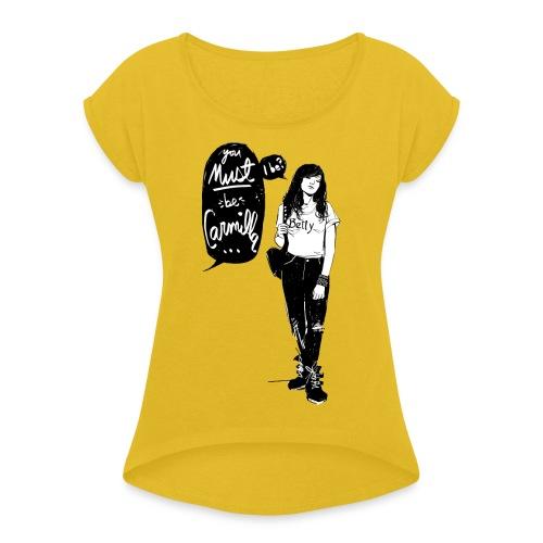Valentine M. Smith x Carmilla - Women's Roll Cuff T-Shirt