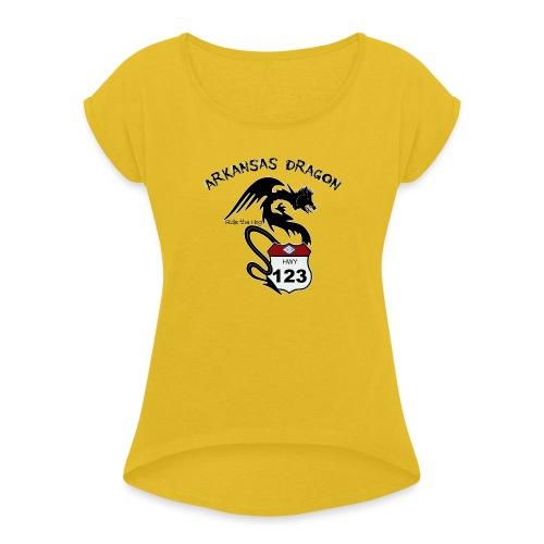 The Arkansas Dragon T-Shirt - Women's Roll Cuff T-Shirt