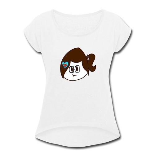 Starze YouTube Icon - Women's Roll Cuff T-Shirt