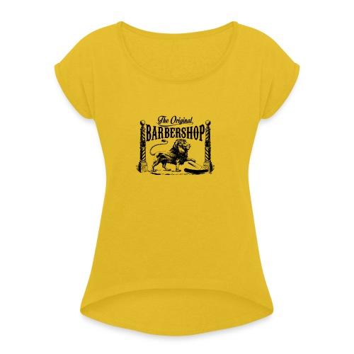 The Original Barbershop - Women's Roll Cuff T-Shirt