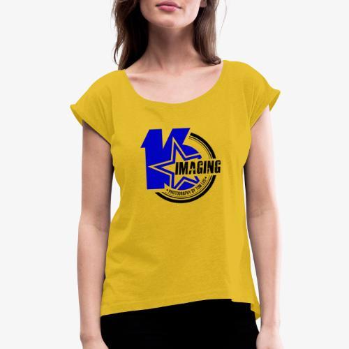 16IMAGING Badge Color - Women's Roll Cuff T-Shirt