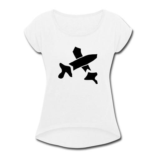 Black Swords - Women's Roll Cuff T-Shirt