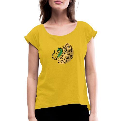 Dragon Gold Keeper - Women's Roll Cuff T-Shirt